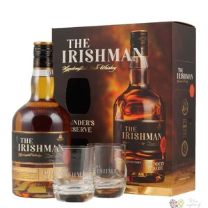 The Irishman Founder's Reserve + 2 sklenice