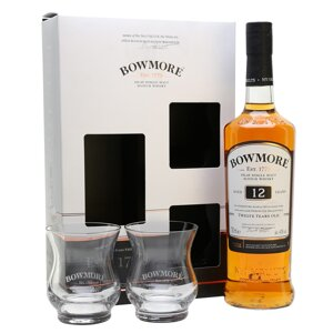 Bowmore Aged 12 Years 2 sklenice