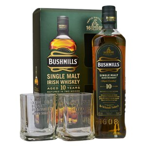 Bushmills Aged 10 Years + 2 sklenice