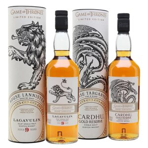 Game of Thrones Lagavulin 9 House Lannister & Cardhu Gold Reserve House Targaryen