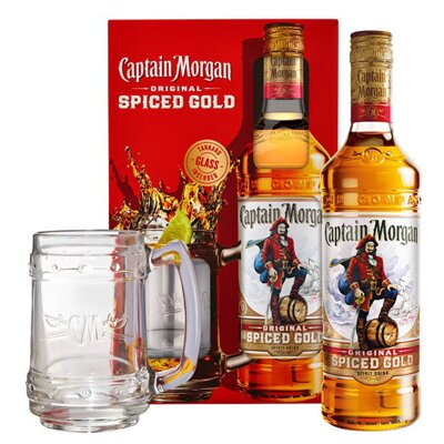 Captain Morgan Original Spiced Gold + korbel